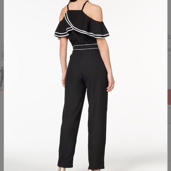 211b7fed2d08 New XOXO ruffle cold shoulder jumpsuit sz L